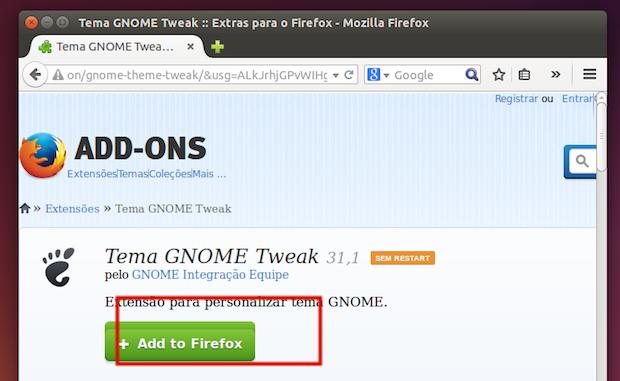 melhore a integração do Mozilla Firefox no Gnome