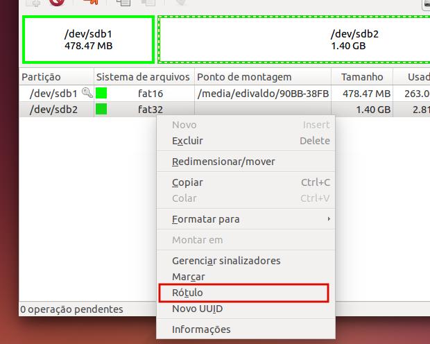 Como alterar os nomes das unidades de disco usando o Gparted