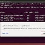 Como definir o navegador padrão no Debian, Ubuntu e derivados