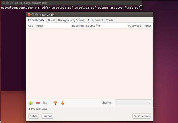 Como juntar e dividir arquivos PDF no linux