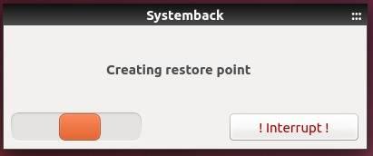 clicar no botão Interrupt