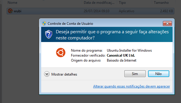 ubuntu no windows