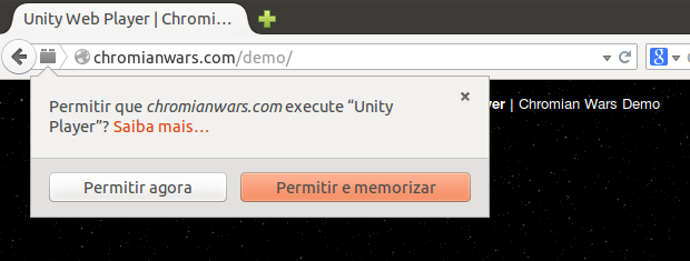 instalar o Unity Web Player