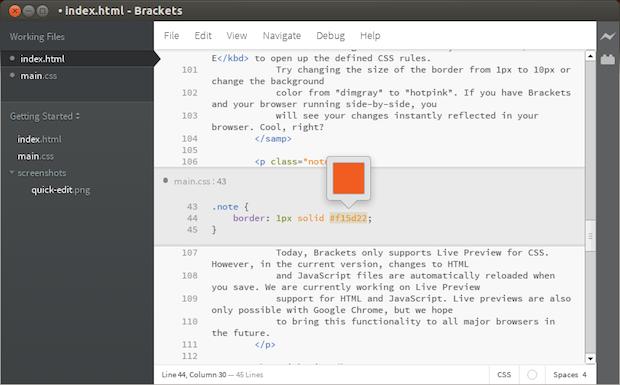 Como instalar o editor de código para web Brackets no Ubuntu e seus derivados