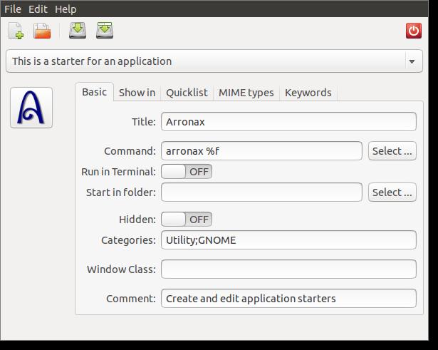 Editor de Quicklist arronax