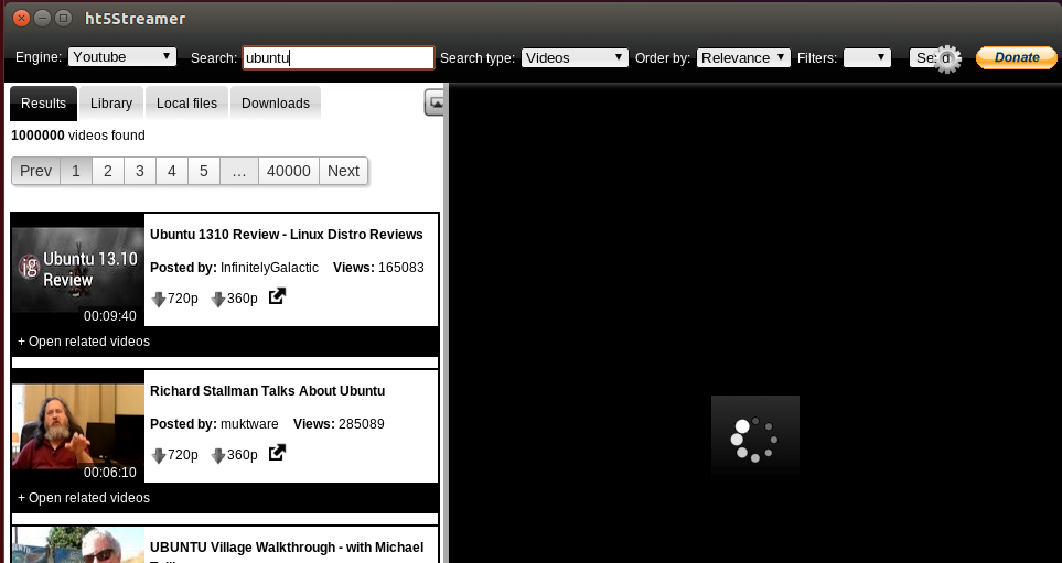 vídeos em HTML5