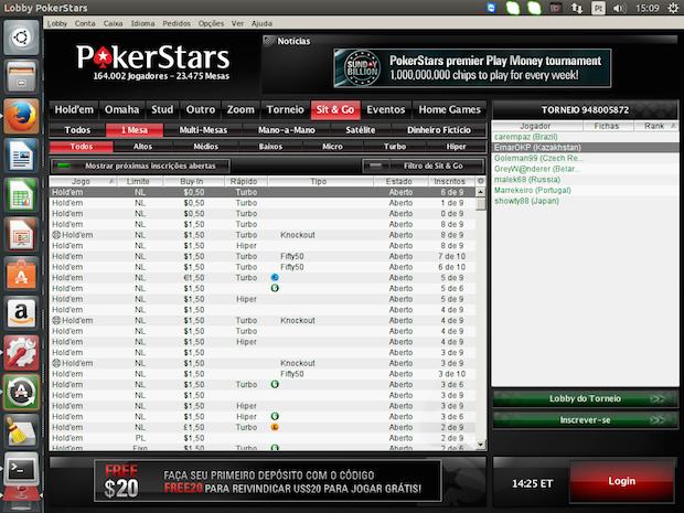 Como instalar o PokerStars no Linux