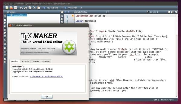 Editor LaTeX: Instale o Texmaker no Ubuntu