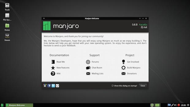 manjaro linux 0.8.10
