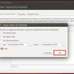 Como apagar o histórico de arquivos abertos recentemente no Ubuntu