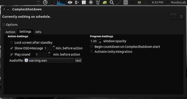 Instale ComplexShutdown para agendar tarefas e desligamento no Linux