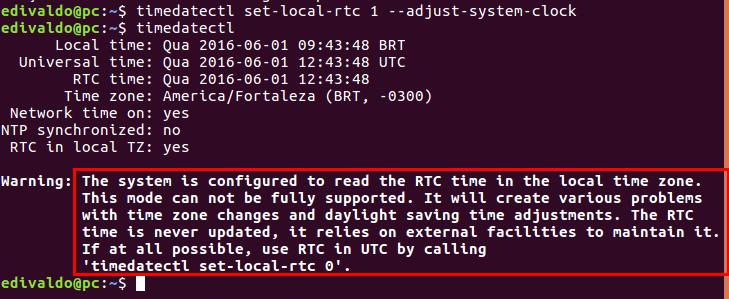 Como corrigir diferenças de tempo entre o Ubuntu e o Windows em sistemas com dual boot