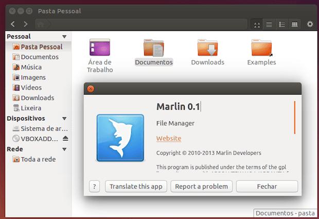 gerenciador de arquivos Marlin
