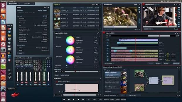 programa para editar vídeos Lightworks in Ubuntu Linux