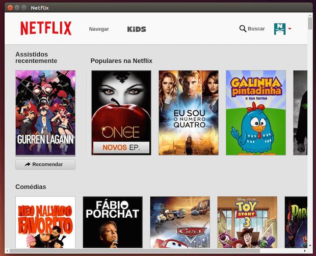 Netflix como um app no Linux