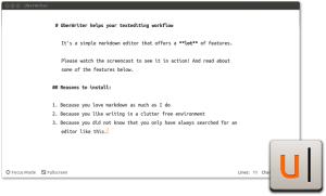 processador de texto uberwriter