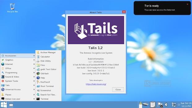 Tails 1.2 Anonimato na web