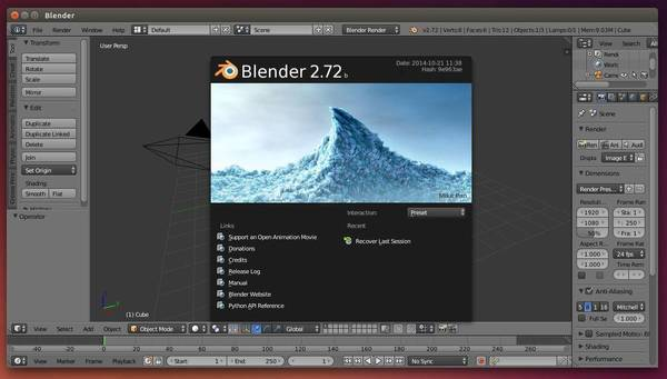 Como instalar a última versão do Blender no Linux