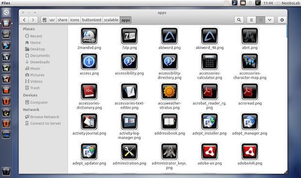 Instalando o pacote de ícones Buttonized no UbuntuInstalando o pacote de ícones Buttonized no Ubuntu