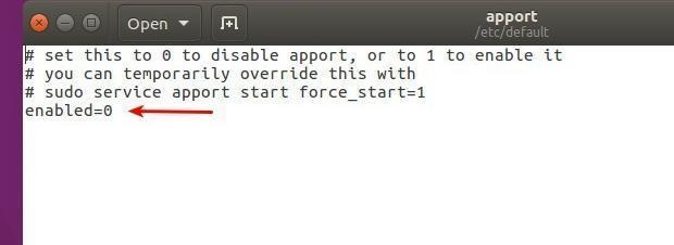 Como desativar o relatório de erros do Apport no Ubuntu