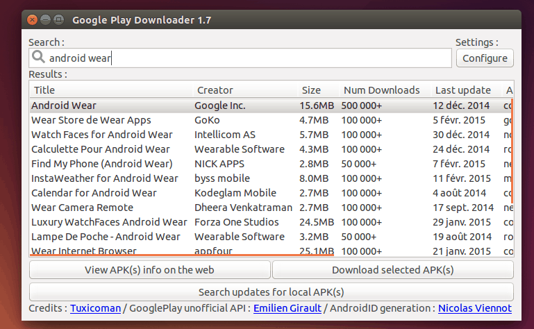 Baixar apps Android no PC google play downloader