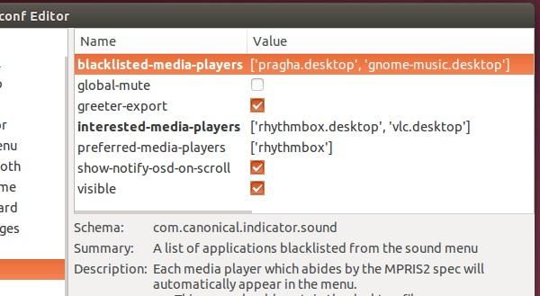 Como remover reprodutores de mídia do menu de som do Ubuntu