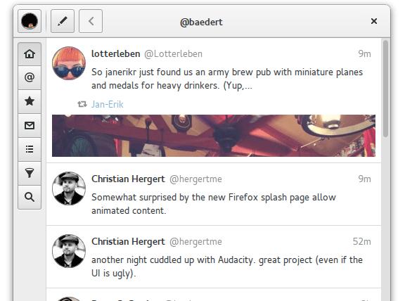 Cliente para Twitter Corebird