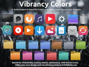 Instalando o pacote de ícones Vibrancy Colors no Debian, Ubuntu e derivados