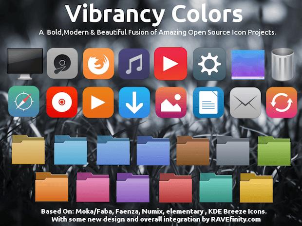 Vibrancy colors - Instalando o pacote de ícones Vibrancy Colors no Debian, Ubuntu e derivados