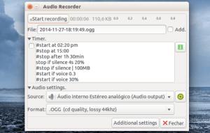 Como gravar chamadas do Skype, músicas e voz no Ubuntu via Audio Recorder