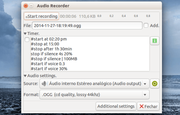 Como gravar chamadas do Skype, músicas e voz no Ubuntu via Audio Recorder