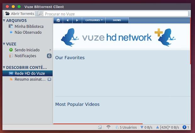 cliente BitTorrent Vuze 5.5.0