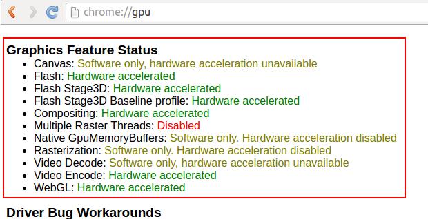 Como ativar a aceleração no Chrome/Chromium
