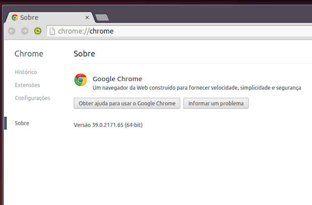 Google Chrome 39 via repositório