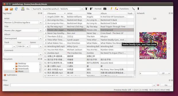 Como instalar o editor de tags Puddletag no Ubuntu