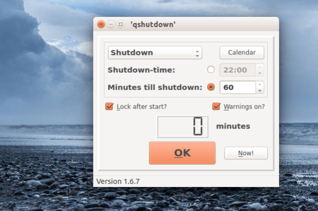 Instale e experimente a ferramenta de desligamento avançado Qshutdown