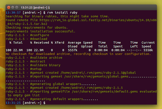 Como instalar o Ruby Version Manager no Ubuntu