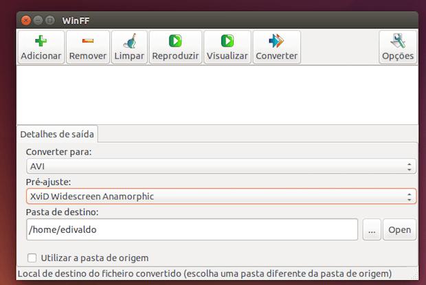 MP4 para Avi - como converter usando o WinFF