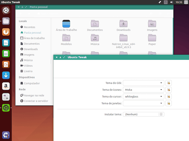 material design do android no Linux Paper