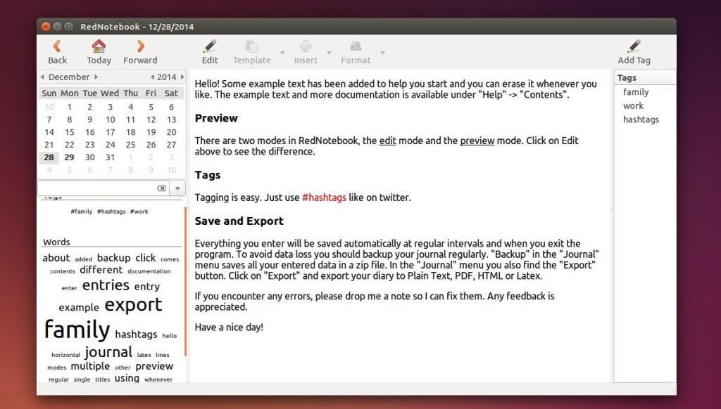 Como instalar o app de diário RedNotebook no Ubuntu