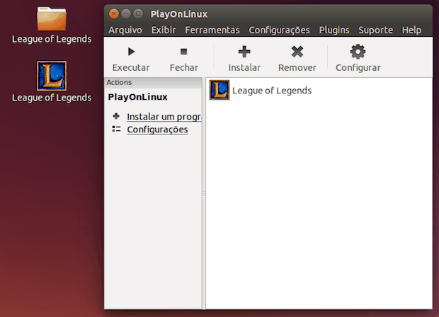 Como instalar o jogo League Of Legends usando o PlayOnLinux