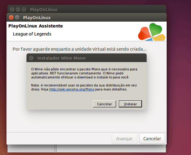 Como instalar o jogo League Of Legends usando o PlayOnLinux
