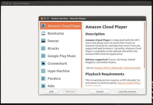 Spotify Web Player e Grooveshark mobile