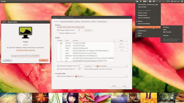 Instale a versão mais recente do trocador de papel de parede Variety no Ubuntu