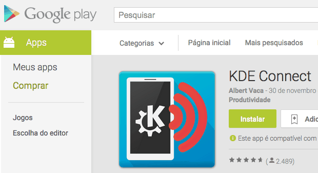 kde connect google play - Edivaldo Brito: Conectar dispositivos Android ao PC: veja como fazer usando KDE Connect