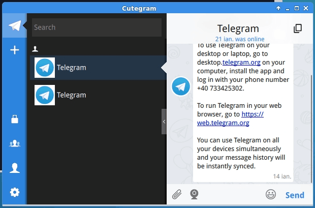 Telegram alternativo no Linux cutegramInstale a última versão do cliente alternativo Cutegram