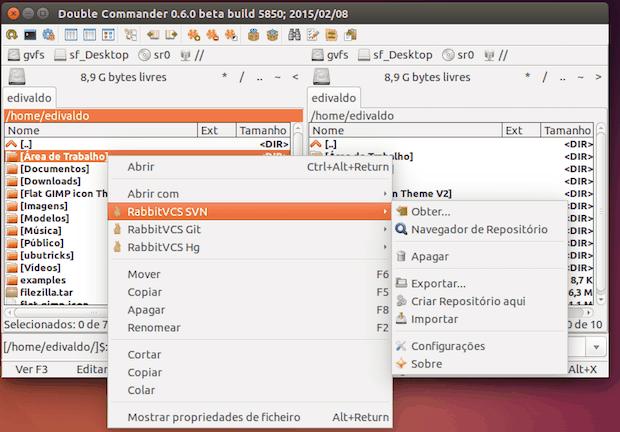 integração com RabbitVCS