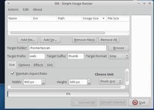 Como instalar o Simple Image Resizer no Ubuntu