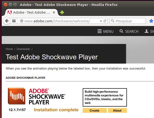 Como instalar o Adobe Shockwave Player no Linux