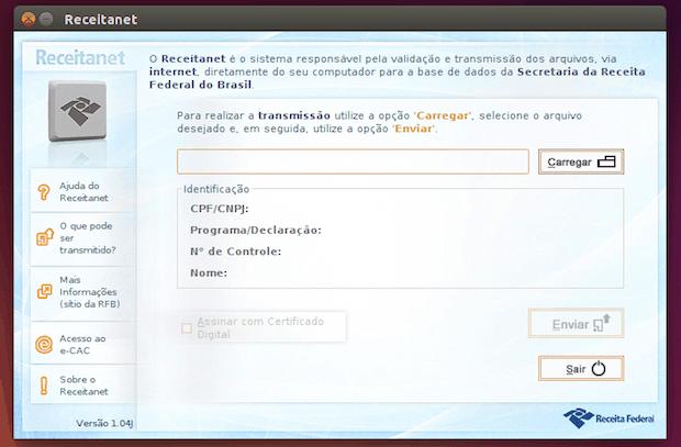Como instalar a versão multiplataforma do Receitanet no Linux